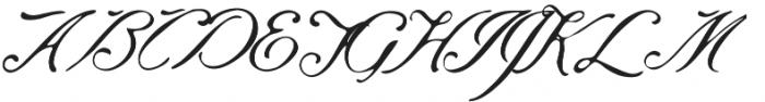 Saint James Regular otf (400) Font UPPERCASE