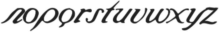 Saint James Regular otf (400) Font LOWERCASE