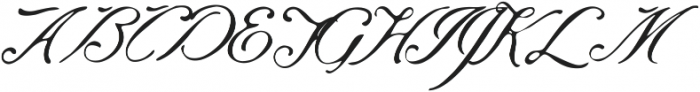 Saint James Regular ttf (400) Font UPPERCASE