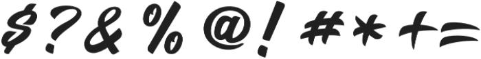 Salikin otf (400) Font OTHER CHARS