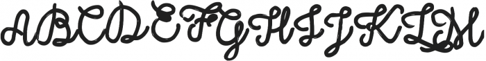 Sally Script otf (400) Font UPPERCASE