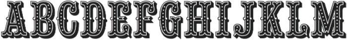 Saloon Girl Dot otf (400) Font UPPERCASE