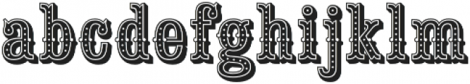 Saloon Girl Dot otf (400) Font LOWERCASE