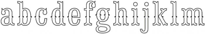Saloon Girl Fill Lines otf (400) Font LOWERCASE
