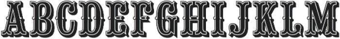 Saloon Girl Inline otf (400) Font UPPERCASE