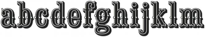 Saloon Girl Inline otf (400) Font LOWERCASE