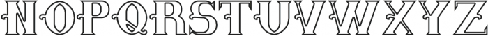Saloon Outline otf (400) Font UPPERCASE