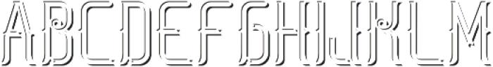 SaltLakeFont LightShadowFX otf (300) Font LOWERCASE