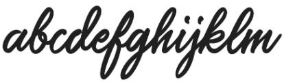 Saltery Alternate Regular otf (400) Font LOWERCASE