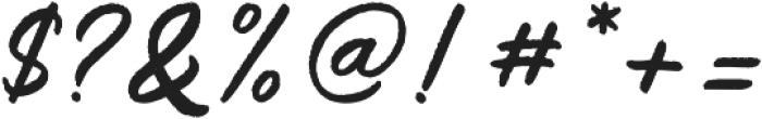 Saltery Alternate Rough Regular otf (400) Font OTHER CHARS