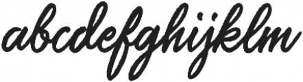 Saltery Alternate Rough Regular otf (400) Font LOWERCASE