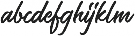 Saltery Rough Regular otf (400) Font LOWERCASE