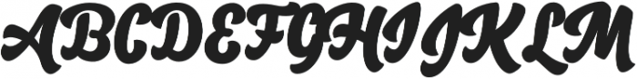 Salty1 Bold otf (700) Font UPPERCASE