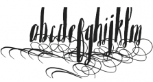 Saltywaters Alternates otf (400) Font LOWERCASE