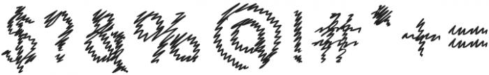 Salud hatch otf (400) Font OTHER CHARS