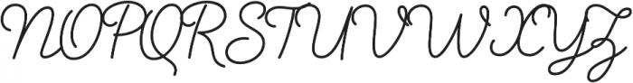Salve Script1 Bold otf (700) Font UPPERCASE