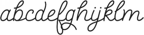 Salve Script1 Bold otf (700) Font LOWERCASE