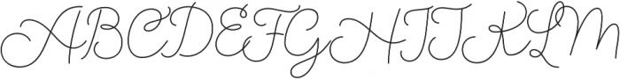 Salve Script3 otf (400) Font UPPERCASE
