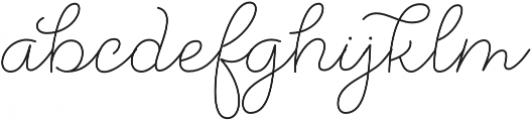 Salve Script3 otf (400) Font LOWERCASE