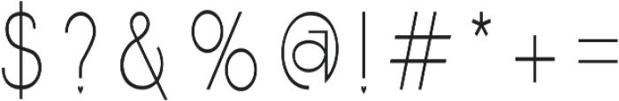 Samelia Regular otf (400) Font OTHER CHARS