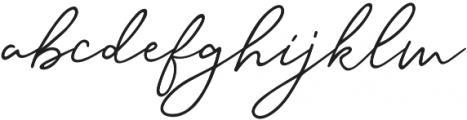 Samoset Regular otf (400) Font LOWERCASE
