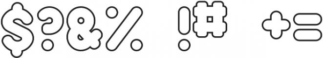 Samson Outline otf (400) Font OTHER CHARS