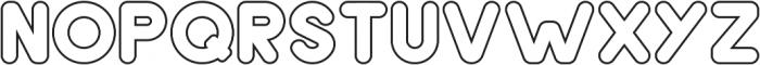 Samson Outline otf (400) Font UPPERCASE
