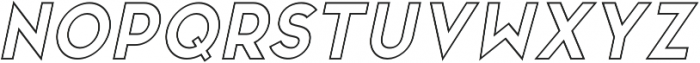 San Marino Outline Italic otf (400) Font UPPERCASE