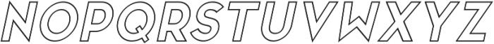 San Marino Outline Italic otf (400) Font LOWERCASE