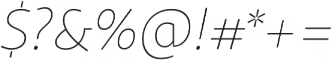 Sana Sans Book Italic otf (400) Font OTHER CHARS