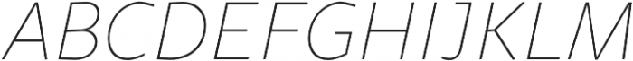 Sana Sans Book Italic otf (400) Font UPPERCASE