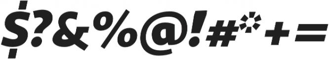 Sana Sans Italic otf (400) Font OTHER CHARS