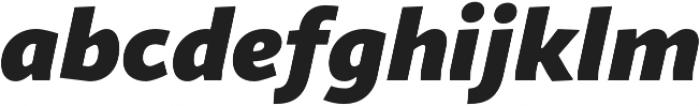 Sana Sans Italic otf (400) Font LOWERCASE