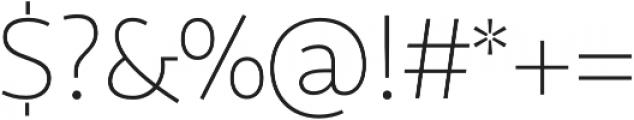 Sana Sans Thin Italic otf (100) Font OTHER CHARS
