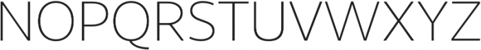 Sana Sans Thin Italic otf (100) Font UPPERCASE