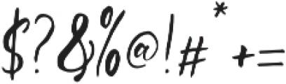 Sanango Regular otf (400) Font OTHER CHARS
