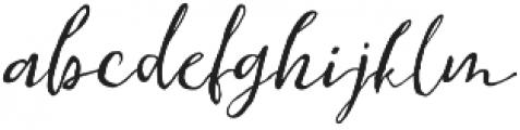 Sanango Regular otf (400) Font LOWERCASE