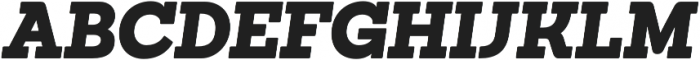 Sanchez Black Italic otf (900) Font UPPERCASE