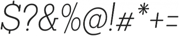 Sanchez Condensed ExtraLight Italic otf (200) Font OTHER CHARS