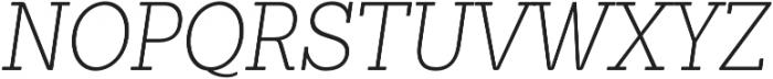 Sanchez Condensed ExtraLight Italic otf (200) Font UPPERCASE