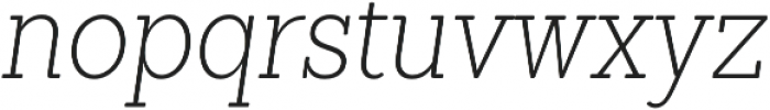 Sanchez Condensed ExtraLight Italic otf (200) Font LOWERCASE