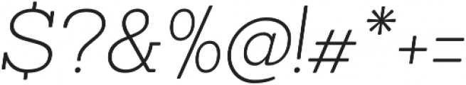 Sanchez ExtraLight Italic otf (200) Font OTHER CHARS