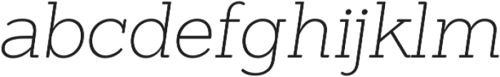 Sanchez ExtraLight Italic otf (200) Font LOWERCASE