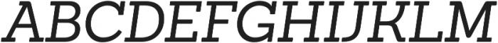 Sanchez Italic otf (400) Font UPPERCASE