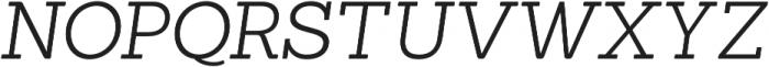 Sanchez Light Italic otf (300) Font UPPERCASE