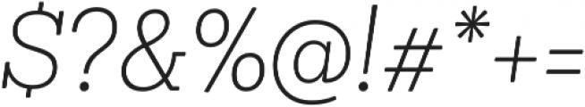 Sanchez Niu ExtraLight It otf (200) Font OTHER CHARS