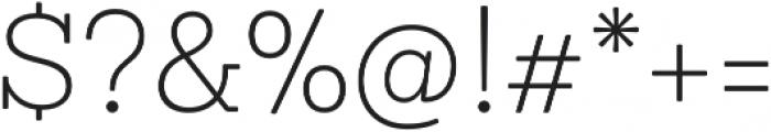 Sanchez Niu ExtraLight otf (200) Font OTHER CHARS