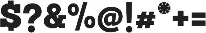 Sanchez Slab Black otf (900) Font OTHER CHARS