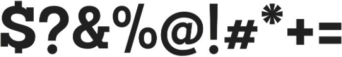 Sanchez Slab Bold otf (700) Font OTHER CHARS