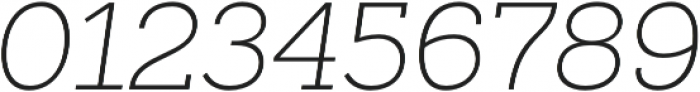 Sanchez Slab ExtraLight Italic otf (200) Font OTHER CHARS